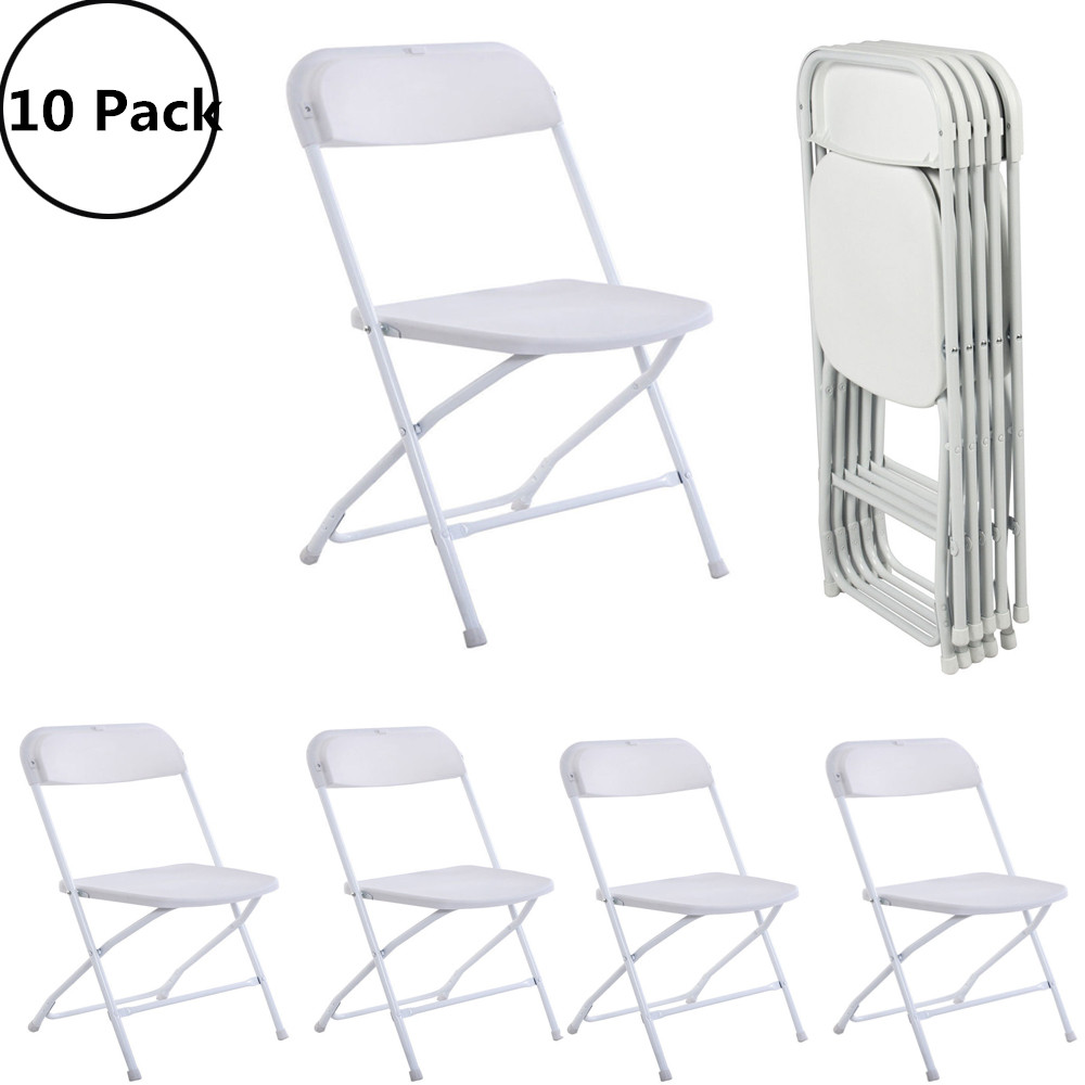 UBesGoo Plastic Folding Chairs Wedding Banquet Seat Premium Party Event Chair