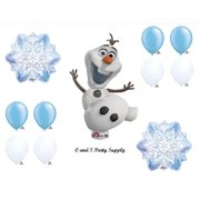 1 X Frozen Olaf Snowflakes Disney Movie BIRTHDAY PARTY Balloons Decorations Supplies