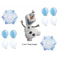 1 X Frozen Olaf Snowflakes Disney Movie BIRTHDAY PARTY Balloons Decorations Supplies