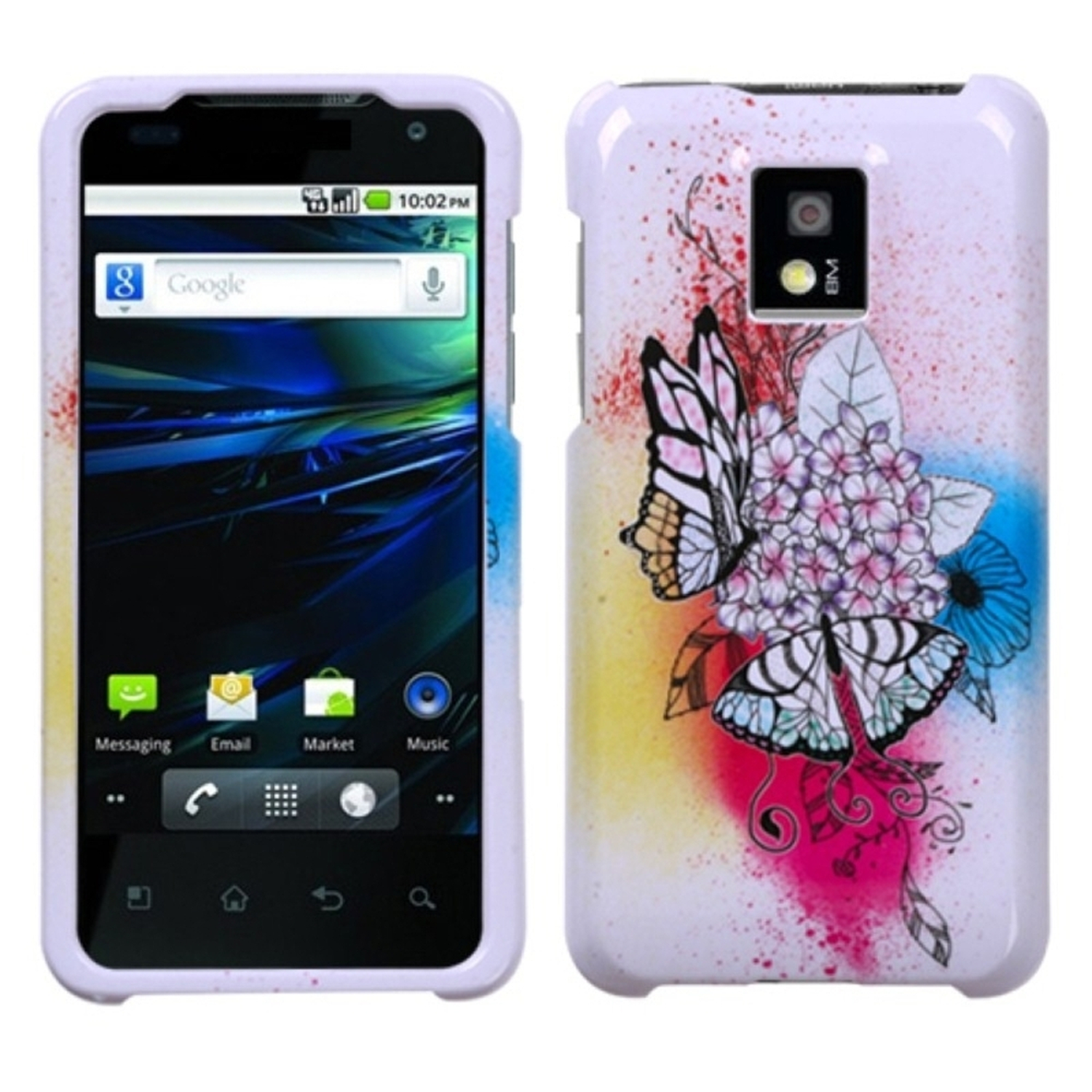 Insten Butterfly Paradise Phone Case for LG: P999 (G2X)