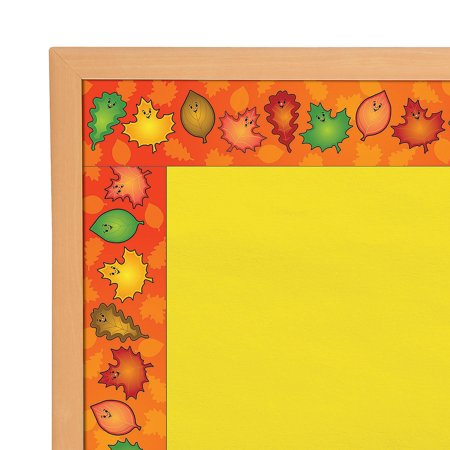 Fun Express - Bulletin Board Border - Fall Leaves for Fall - Educational - Classroom Decorations - Bulletin Board Decor - Fall - 15 Pieces](Decorating Classroom)