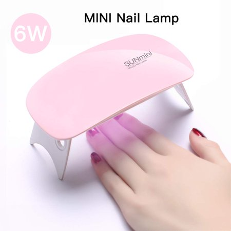 SUNmini 6W LED UV Nail Dryer Curing Lamp Light Portable for Gel Based Polishes Manicure/Pedicure 2 Timing Setting 45s/60s