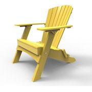 Folding Adirondack Chair by Malibu Outdoor - Hyannis, Yellow