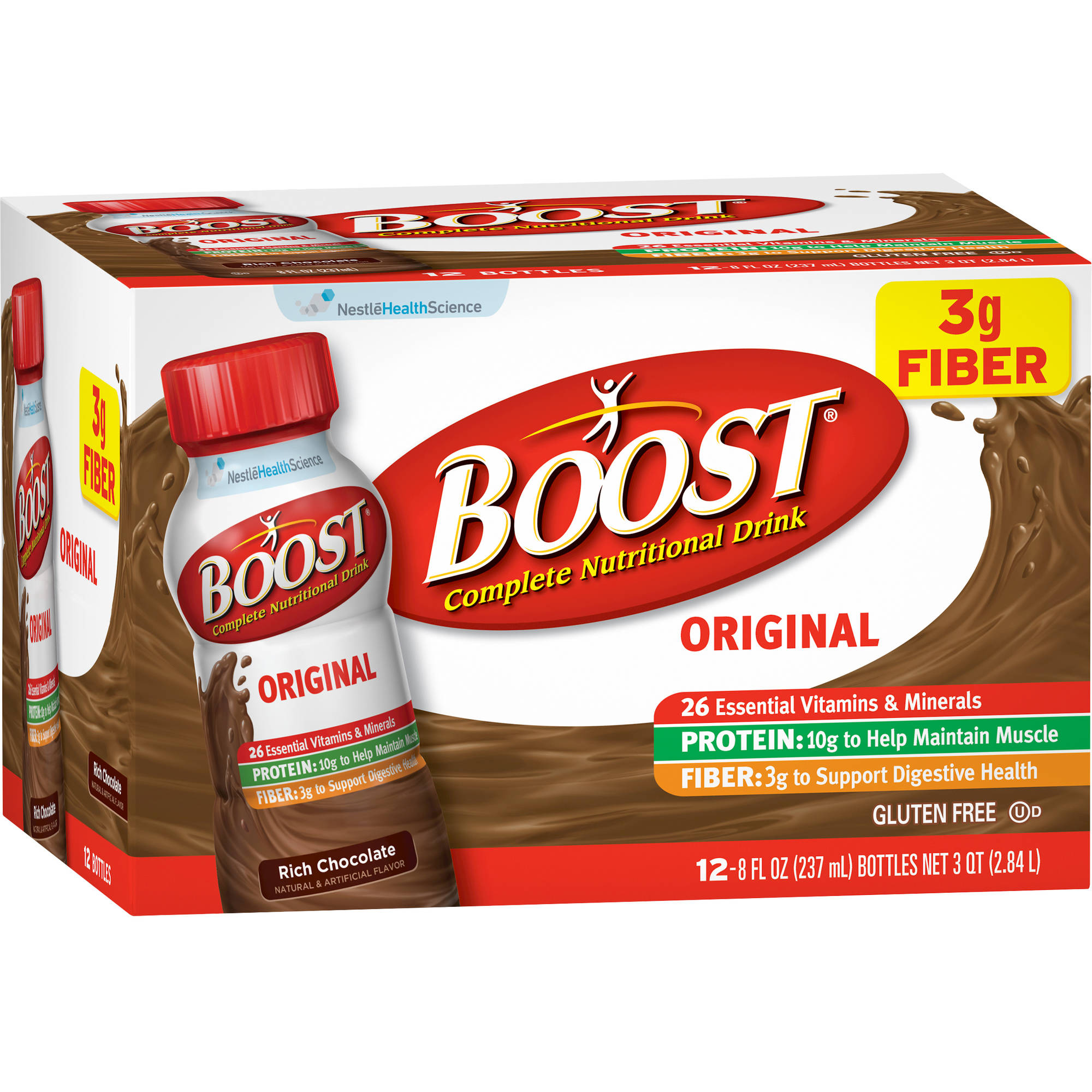 Boost Original Rich Chocolate Complete Nutritional Drinks, 8 fl oz, 12 count