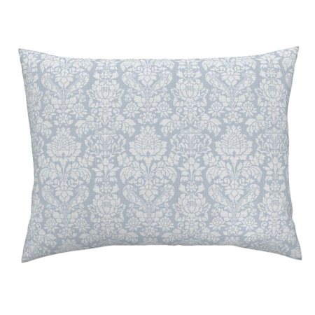 Damask Victorian Floral Brocade Ornate Luxe Pillow Sham by Roostery