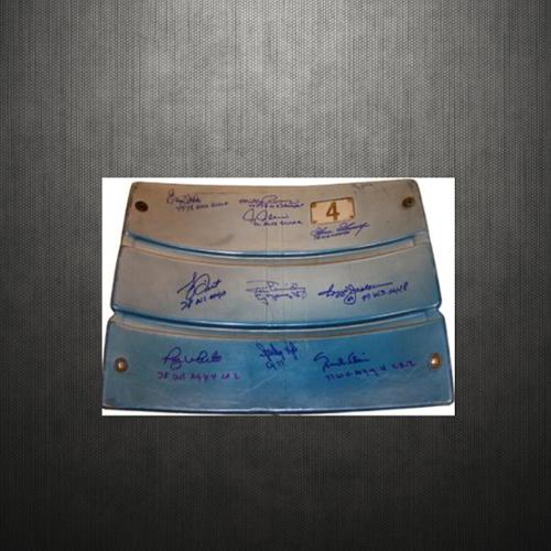 Steiner Yankees 1977-78 Team Multi Signed Authentic Seatback from Yankee Stadium w/ Insc. (Closed Slats)