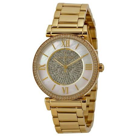 521b26b7bf0c Michael Kors - Catlin Mother of Pearl Dial Gold-plated Ladies Watch MK3332  - Walmart.com