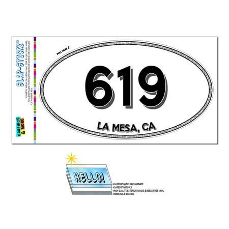 619 - La Mesa, CA - California - Oval Area Code Sticker (Party City La Mesa Ca)