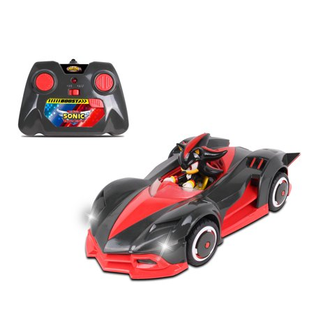 NKOK Sonic Team Racing Radio Controlled Shadow The Hedgehog w/ Turbo Boost (Sonic Halloween Racing)
