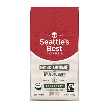 Seattles Best Coffee 6Th Avenue Bistro  Previously Signature Blend No  4  Fair Trade Organic Dark Roast Ground Coffee  12 Ounce Bag
