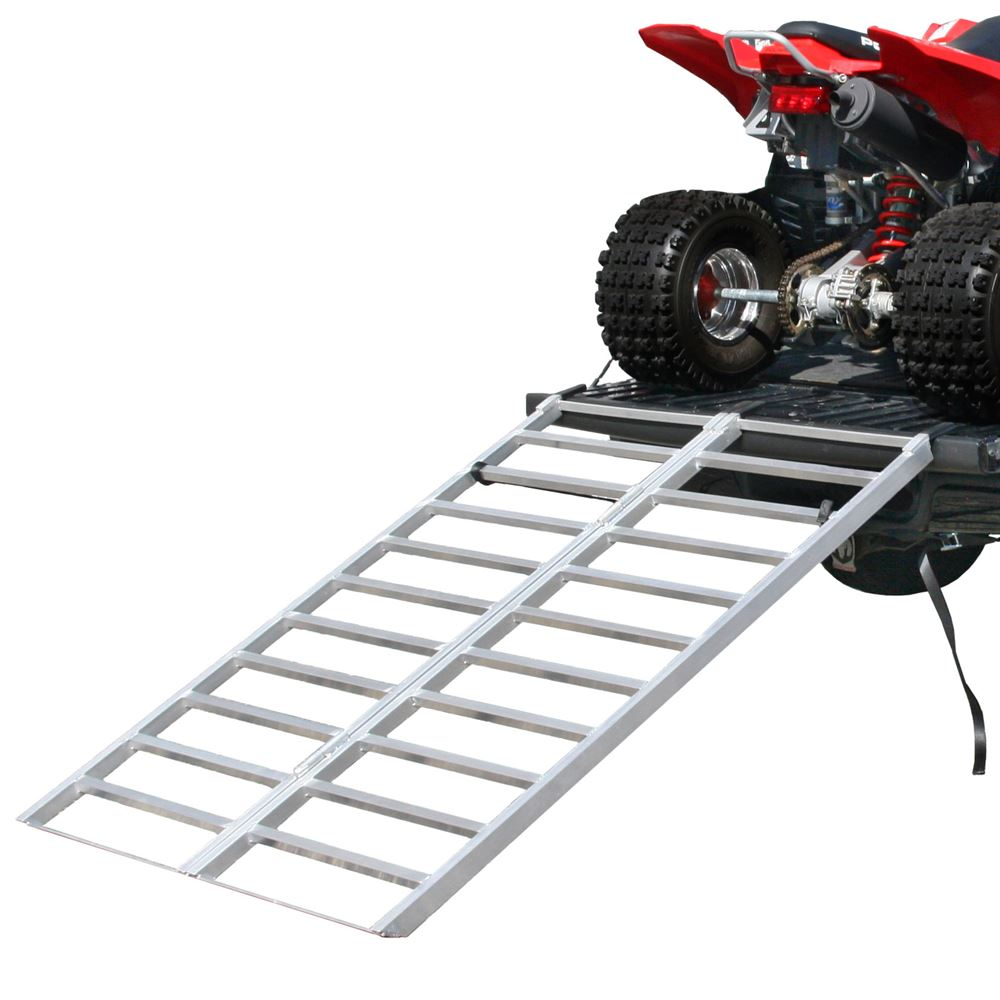 "71"" x 48"" Aluminum Bi-Fold Truck or Trailer ATV Loading Ramp"