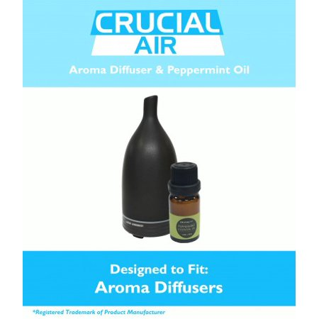 Advanced Aromatherapy - Aromatherapy Diffuser: Advanced Essential Oil Nebulizer & Peppermint Oil (10ML)