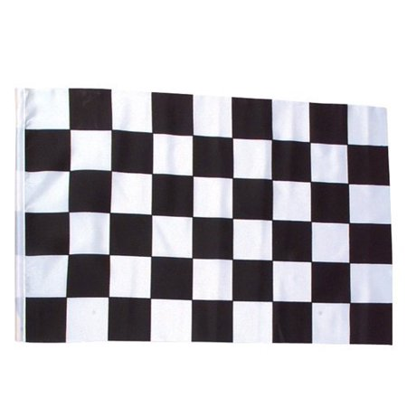 3' x 5' Black and White Checker Racing Flag NASCAR Banner Race Party Decoration (Horse Racing Banner)
