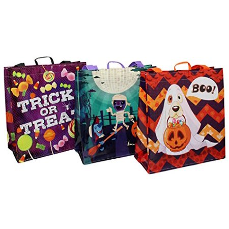 Ideas For Halloween Party Goodie Bags (Earthwise Halloween Bags Trick or Treat - Reusable Grocery Candy Goodie Totes Baggies Party Favor Bags (6)