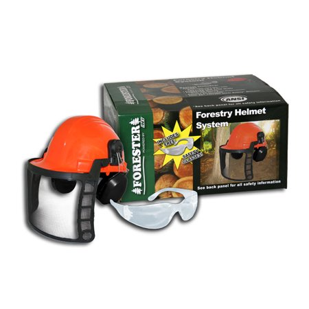 Forester Orange Complete Forestry Chainsaw Helmet System. One Size Fits Most. Part Number 8577.