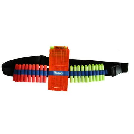 Bullet Bandolier (Yosoo Shoulder Belt Strap +6 Dart EVA Bullet Quick Reload Clip+20PCS Bullets Kit,Bandolier Toy Gun Soft Bullets Storage Shoulder Belt Strap)