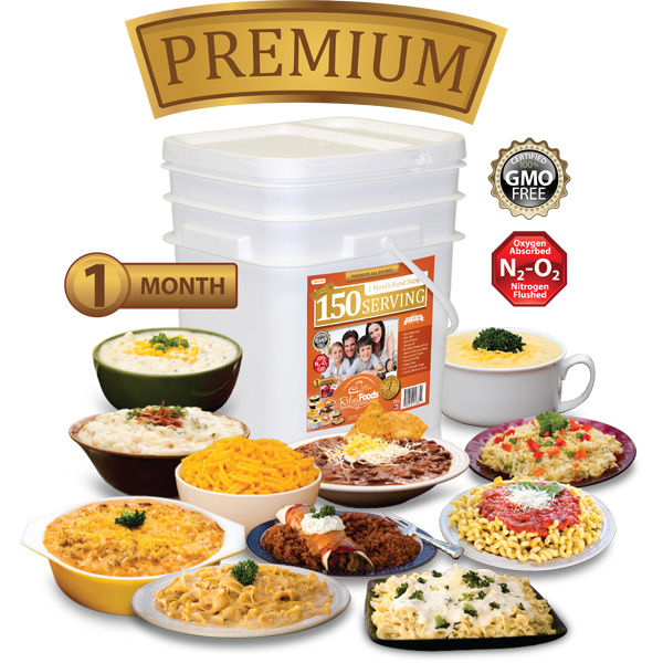 1 Month - Premium - 150 Serving All Entrée Bucket