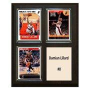 C&I Collectables NBA 8x10 Damian Lillard Portland Trailblazers 3-Card Plaque