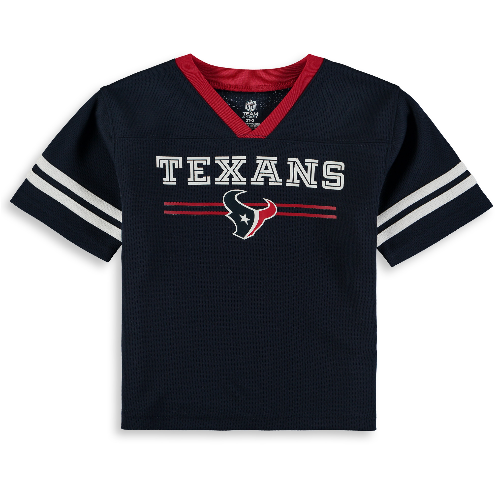 Toddler Navy Houston Texans Mesh Jersey V-Neck T-Shirt