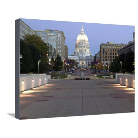 Wisconsin State Capitol Building, Madison, WI Stretched Canvas Print Wall Art By Walter