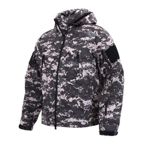 Special Ops Tactical Soft Shell Jacket, Subdued Urban Digital Camo, XL