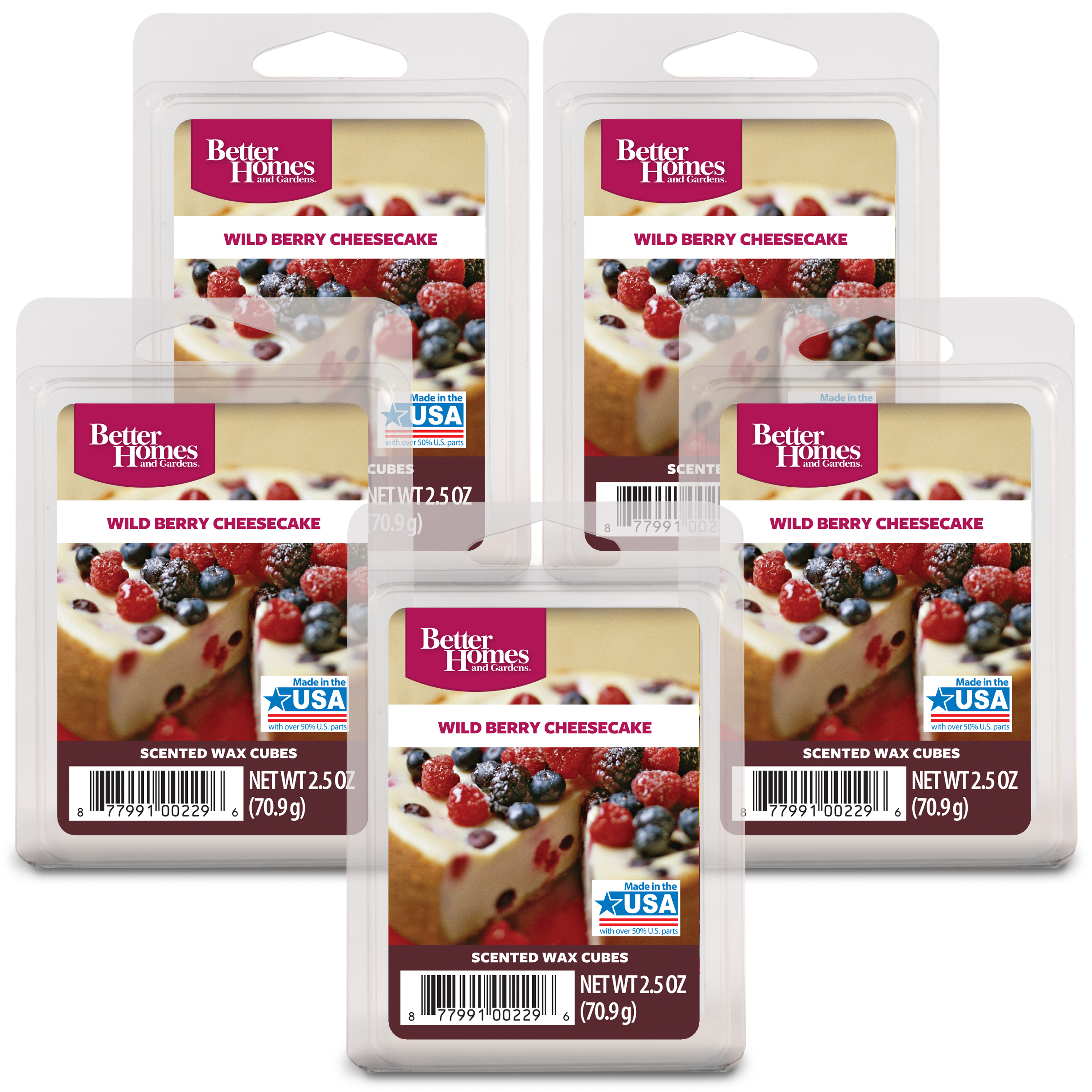 Better Homes and Gardens Wax Cubes, Berry Cheesecake, 5pk