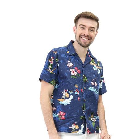 12 Days Of Christmas Hawaiian Style (Hawaii Hangover Men's Hawaiian Shirt Aloha Shirt Christmas Shirt Santa)