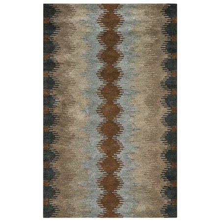 Gatney Rugs Wildcat Area Rugs - TL9250 Southwestern Lodge Multi Rows Zigzag Abstract Angles - Wildcats Runner