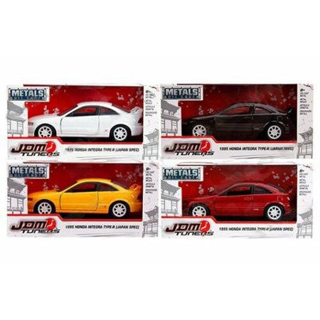 - JADA 1:32 W/B - METALS - JDM TUNERS - 1995 HONDA INTEGRA TYPE-R (JAPAN SPEC) (RED, YELLOW, BLACK, WHITE) SET OF 4 30451-WA1