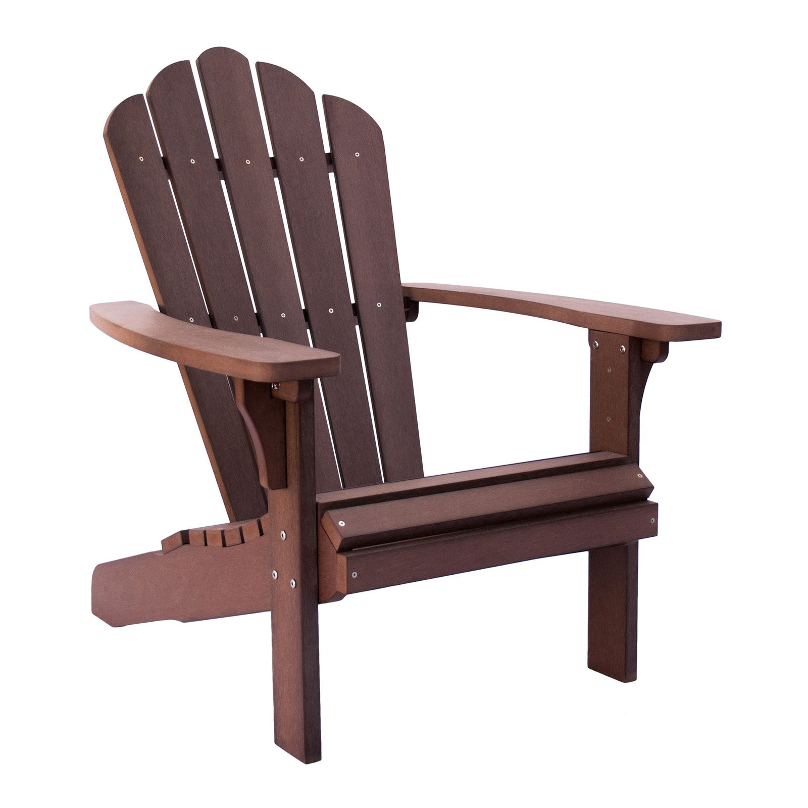 Shine Company West Palm Plastic Adirondack Chair - Chateau Brown