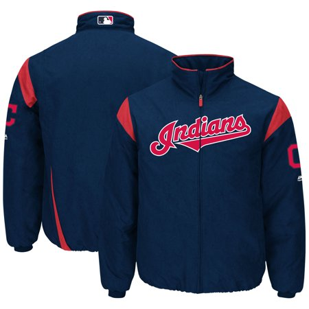 Cleveland Indians Majestic On-Field Therma Base Thermal Full-Zip Jacket - Navy