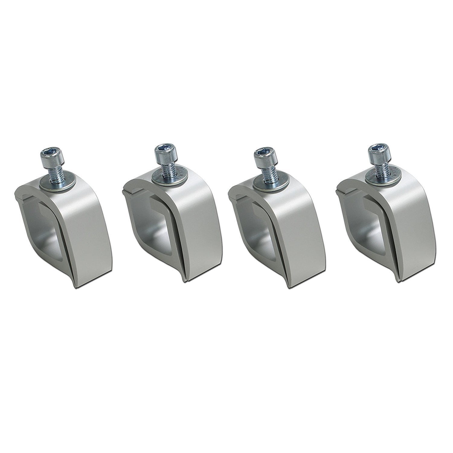 AA-Rack P-AC -01 Set of 4 Aluminum C-Clamps for Non-Drilling Truck Rack /& Camper Shell Installation-Black 4
