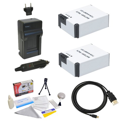 GoPro HD Hero3 3+ Accessory Kit with (2x) Extended Batteries, AC/DC Battery Charger, HDMI to Micro HDMI Cable and Cleaning Kit