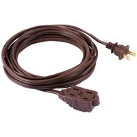 Extension Cord, Indoor Brown with Tamper Guard, 12', 125V, 13A