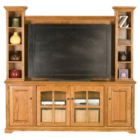 Eagle Furniture Oak Ridge 80 in. Entertainment Console with Optional Hutch