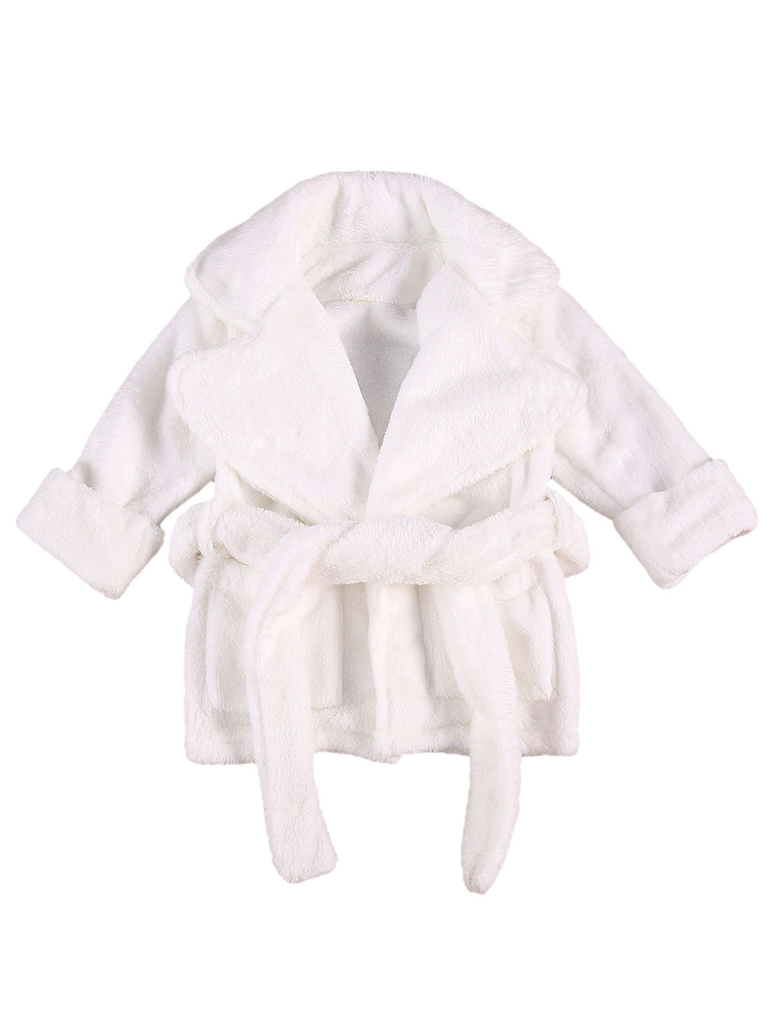 Newborn Baby Girls Boys Clothes Plush Bathrobe Plain Kimono Nightgowns Towel Robe Nightwear Sleepwear Outfits