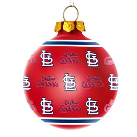 St. Louis Cardinals Official MLB Repeat Glass Ball Christmas ...