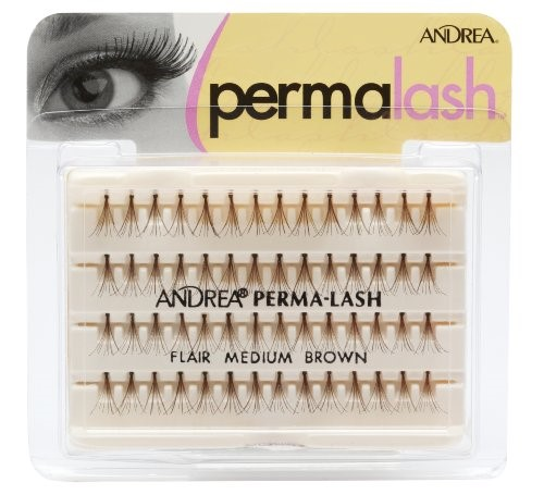 (2 Pack) Andrea Permalash Flair Medium False Eyelashes, Brown
