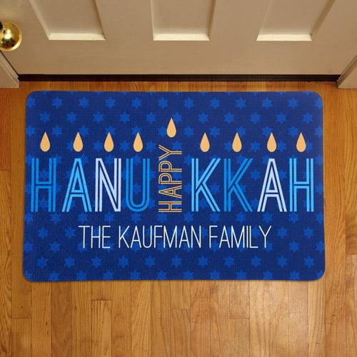 Personalized Hanukkah Doormat