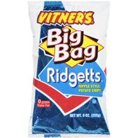 Vitner's Big Bag Ridgetts Ripple Style Potato Chips, 9 Oz.