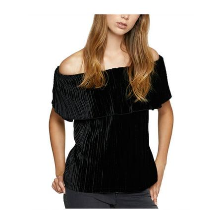 3e2bb2f832af2 Sanctuary Clothing Womens Celeste Velvet Off The Shoulder Blouse - image 1  of 1 ...