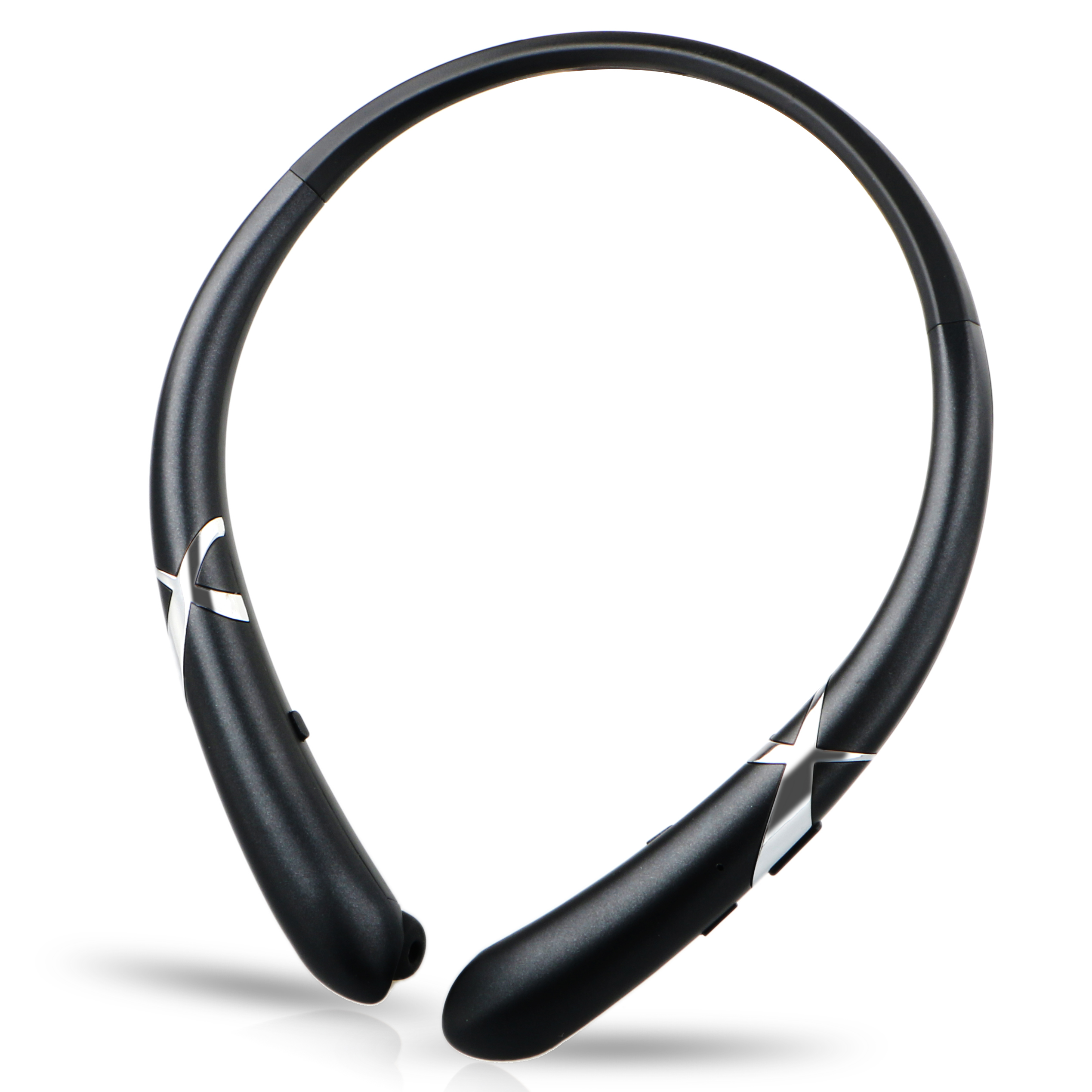 Bluetooth Headphones Waterproof Wireless Flexible Neckband Headset Stereo Noise Reduction Earbuds w/ Mic for iPhone Samsung iPad