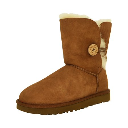 Ugg Women's Bailey Button II Chestnut High-Top Sheepskin Boot - (Button Womens Sheepskin Boots)