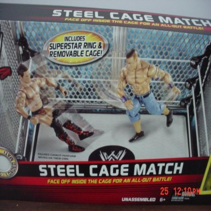 Mattel WWE Wrestling Exclusive Ring Steel Cage Match Includes John Cena The Miz Action Figures by Generic