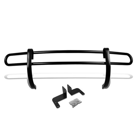 For 2008 to 2013 Nissan Rogue Stainless Steel Double Bar Rear Bumper Protector Guard (Black) 09 10 11 12