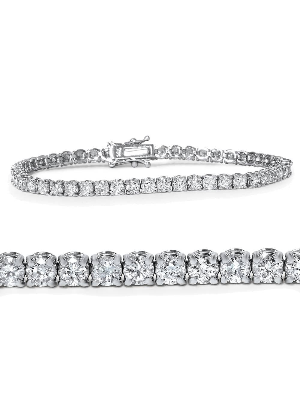 """4ct Diamond Tennis Bracelet 14K White Gold 7"""" by Pompeii3"""