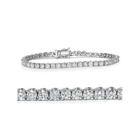 - 4ct Diamond Tennis Bracelet 14K White Gold 7