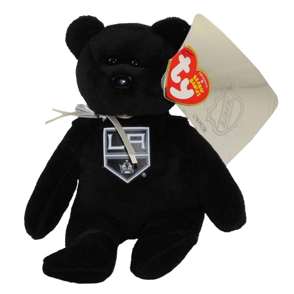 TY Beanie Baby NHL Hockey Bear LA KINGS (8 inch) by TY Inc