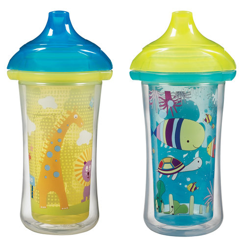 Munchkin Click Lock 9 Oz Insulated Sippy Cup (Design May Vary), BPA-Free, 2 count