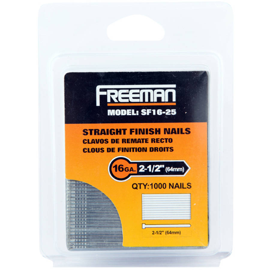 Freeman SF16-25 16 GA 2 1/2-Inch Glue Collated Straight Finish Nails, 1000 Count